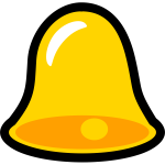 Yellow bell vector image