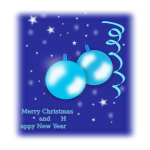 Blue design Christmas card vector drawing