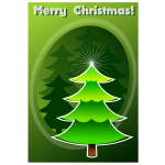 Merry Christmas in green color vector image