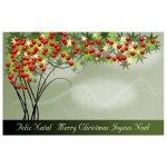 Vector illustration of Merry Christmas card in French language