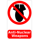 Anti-Nuclear weapons sign vector image