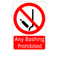 Bashing prohibited sign vector image