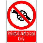 War prohibited sign vector image