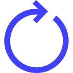 circular arrow blue