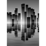 City skyline reflection vector image