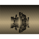 City skyline reflection