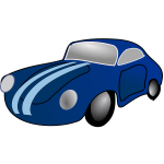 Toy car vector clip art illustration