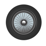 Classic car wheel vector image