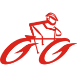 Forward moving cycling logo clip art
