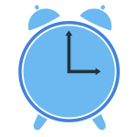 Two clocks vector image