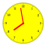 clock just before 8