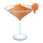 Vector image of drinking glass with orange cocktail