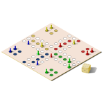 Vector illustration of ludo board game