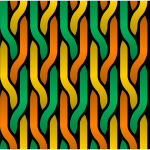 Vector image of orange, yellow and green tressed lines