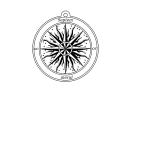 Rose retro compass