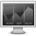 Calendar on computer screen vector image