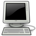 Pony black desktop computer vector image