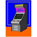 Arcade video games machine