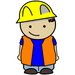 Construction kid icon