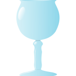Simple wine glass in vector graphics