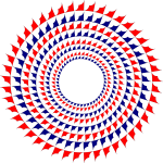 Red and blue circle