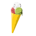 Cornet ice cream vector image