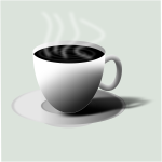 Hot black coffee