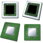 Four CPUs vector image