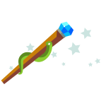 Cartoon magic wand