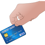 Use credit card vector image