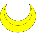 Crescent shape vector