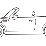Vector graphics of mini convertible