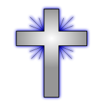 Vector illustration of a Christian cross