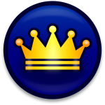 Golden royal crown icon vector image