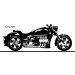 Cruiser bike vector image