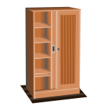 Brown cupboard  vector image