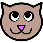 Vector image of pink nose kitten