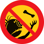 Vector image of do not feed the trolls sign