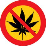 No cannabis vector clip art