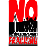 No fracking vector illustration