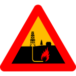 Warning shale gas vector sign