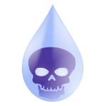 Water pollution drop vector image
