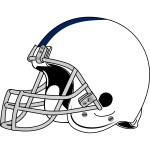 American football helmet vector drawing
