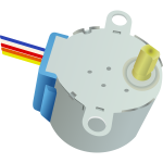 Drawing of stepper motor in color