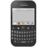 Smartphone with azerty keyboard vector graphics