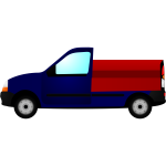 Small truck  vector illustration