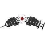 Vector image of broken syringe