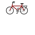Vector illustration of a red bike