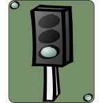 Traffic lights cartoon icon