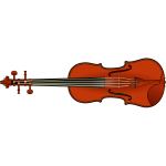 Vector clip art of violin